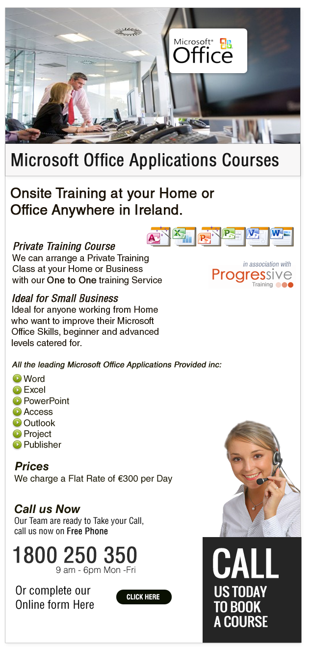 One-2-One Courses in Microsoft Office
